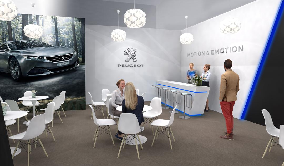 PEUGEOT au salon Motorshow 2015, Dubaï 650 m²